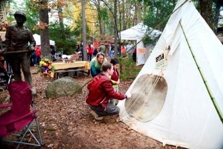 At the annual Beavers Bend Folk Festival & Craft Show, demonstrations of crafts and exhibits showing the culture and technology from the turn of the century fill Beavers Bend State Park. Photo by: Kim Baker